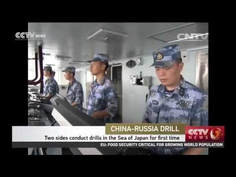China, Russia conduct navy drills in the Sea of Japan for first time