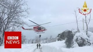 Italy avalanche: 'Many missing' in Rigopiano hotel in Abruzzo - BBC News