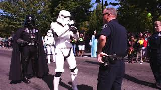 Dance-off between Renton PD and the Stormtroopers
