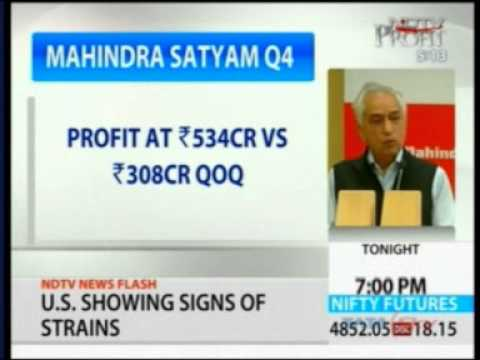 Mahindra Satyam Q4 results-NDTV Profit Breaking News