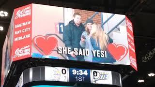 Spirit forward Blade Jenkins' sister Savannah received a proposal tonight and she said YES!