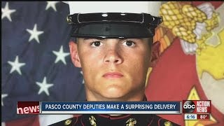 Deputies help Pasco Marine pull off surprise homecoming