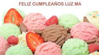 Luz Ma   Ice Cream & Helados y Nieves - Happy Birthday