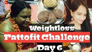 #Weightloss tips in telugu ||Weightloss Indian diet plan||Fattofit challenge Day 6||Lose weight fast