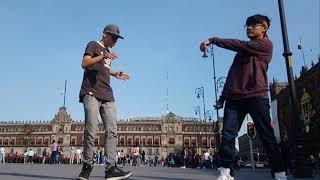 DUBSTEP DANCE ZÓCALO MÉXICO CITY JOSEPH 16 & DROPSTEP HRC