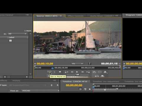 Adobe Premiere Pro CS4 & AVCHD 1of3
