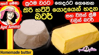 Butter from milk fat (2 methods) by Apé Amma