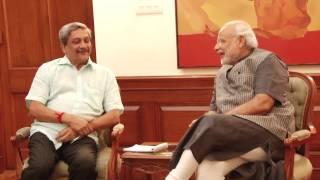 Goa CM Manohar Parrikar calls on PM Modi