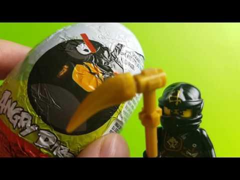 COLE z LEGO NINJAGO otwiera jajka niespodzianki od Angry Birds Bajki LEGO Ninjago