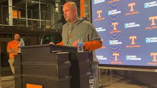 Jeremy Pruitt discusses Vols' first spring practice
