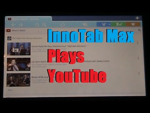 InnoTab Max Plays YouTube Videos