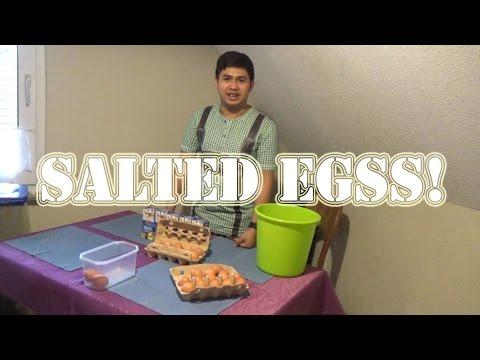 How to make Salted Egg - Itlog na Maalat - Red Egg