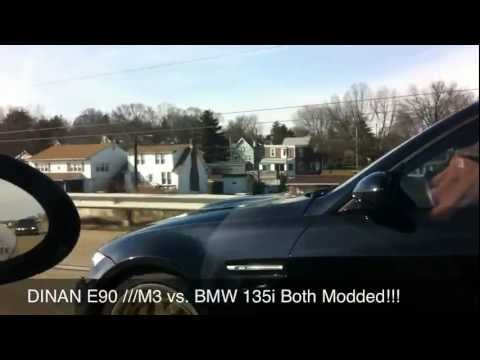 Dinan E90 ///M3 vs. BMW 135i Both Modded !!!