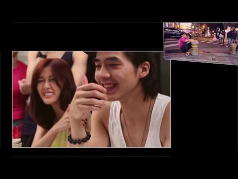 cute asian girls reacting to Frank Yang