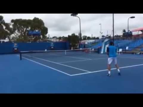 Marsel Ilhan - David Ferrer (Australian Open 2015 Practice)