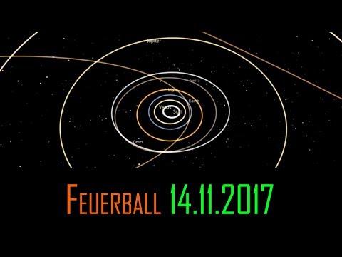 Feuerball am 14.11.2017 über Süddeutschland Erklärung