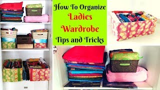 Women's Wardrobe Organization - Tips on Decluttering - DIY organizers