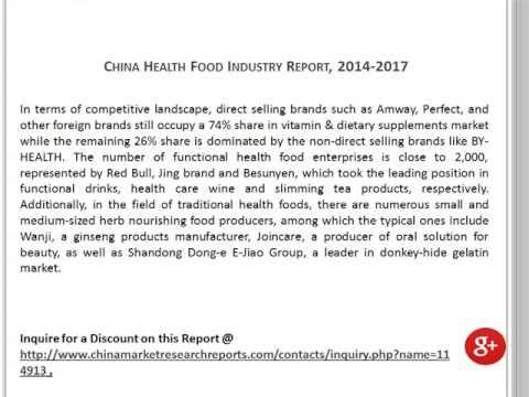 China Health Food Market Report, 2014-2017