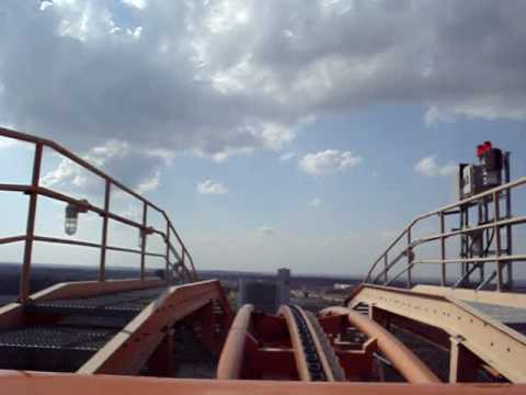 The Titan at Six Flags Over Texas (front seat POV)