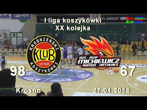 Koszykówka: Miasto Szkła Krosno - AZS AWF Mickiewicz - Romus Katowice - Cały Mecz
