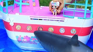 LOL Families ! The Unicorn Family Cruise Ship Adventure | Toys and Dolls Fun for Kids | SWTAD