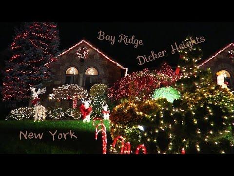 Новый год и рождество в Нью-Йорке. Как украшают дома к празднику.