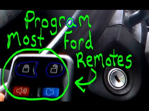 How To Program Most Ford Keyless Entry Remotes Youtube