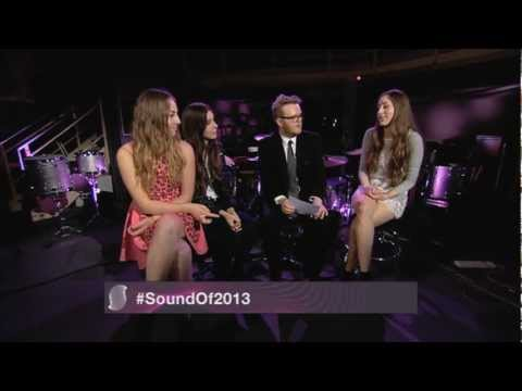 Sound of 2013 winners HAIM chat to Huw Stephens at Maida Vale