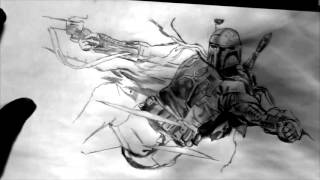 SPEED DRAWING #12 - Star Wars : Boba Fett
