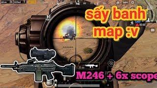 PUBG Mobile - Thử Sấy Hết 100 Viên Đạn M249 Với Scope 6x | Càn Quét Toàn Bản Đồ