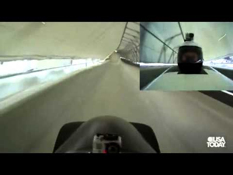 Go Pro Bobsledding with driver Steven Holcomb