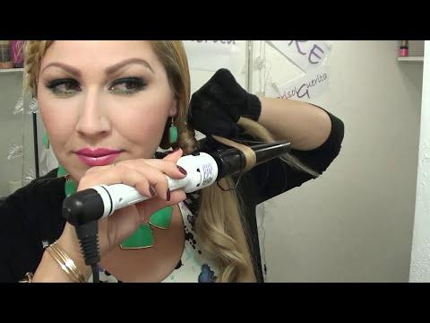 PEINADO para Navidad o Año nuevo  trenza de flequillo coleta y Rizos  Holiday Hair tutorial