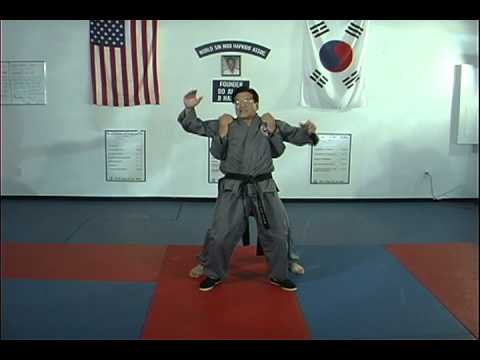 Hapkido Rear Under Shoulder Grab Techniques 1 thru 3 Image 1