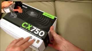 CORSAIR CX750 PC ATX POWER SUPPLY - Standard Unboxing & review