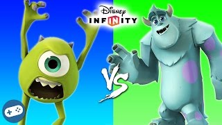 Mike vs Sulley Disney Infinity 3.0 Toy Box Fight