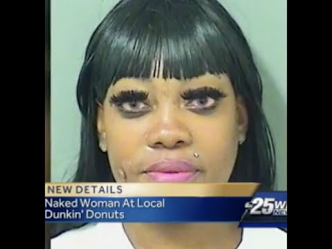 Ratchet FL~32yr old hoodrat gets naked at Dunkin' Donuts in order to join a dance troop
