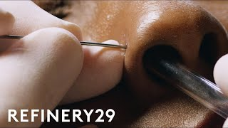 How To Get A Nose Piercing With Brian Keith Thompson Of Body Electric | Macro Beauty | Refinery29