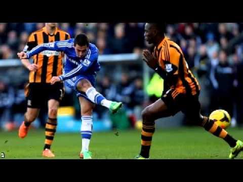 Hull City Vs Chelsea 2015 Hazard goal  0-1