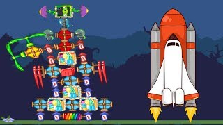 Bad Piggies - SILLY 4 STAGES NASA ROCKET INTERESTING INVENTIONS!