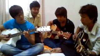 Khmer Song Guitar Cover Kumhos Krobyang - Black and white
