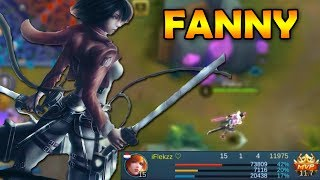 SOLO CARRY FANNY GAMEPLAY - MOBILE LEGENDS
