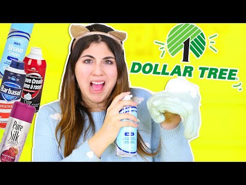 BEST FLUFFY SLIME TEST FROM DOLLAR TREE SHAVING CREAM | Slimeatory #247 thumbnail