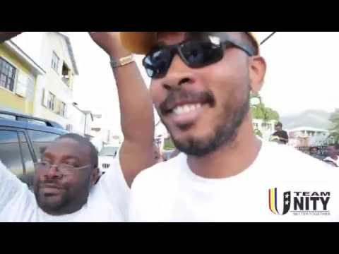 Citizens of St.Kitts and Nevis celebrate a new Team UNITY Government