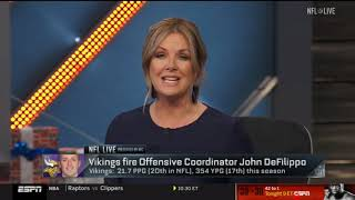 ESPN's Courtney Cronin: Mike Zimmer made decision to fire DeFilippo | NFL Live