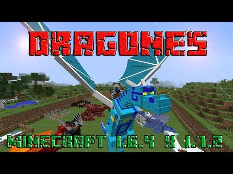 DRAGONES EN MINECRAFT!!! REVIEW DEL MOD DRAGON MOUNT   MINECRAFT 1.6.4 Y 1.7.2