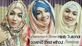 Easy 3 Hijab Style for Summer with Covered chest | Pari ZaaD ❤