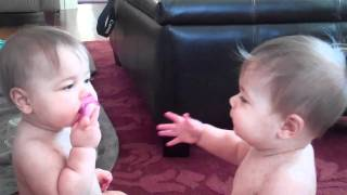 There Are Two Babies And Only One Pacifier. What They Do To Solve The Problem Is The Cutest Thing Ev
