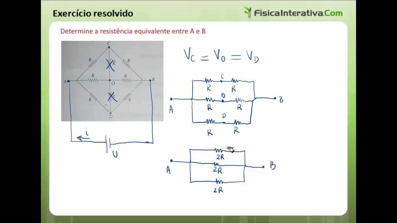 Circuito Rlc Serie Exercicios Resolvidos : Associação de resistores mista exercícios resolvidos