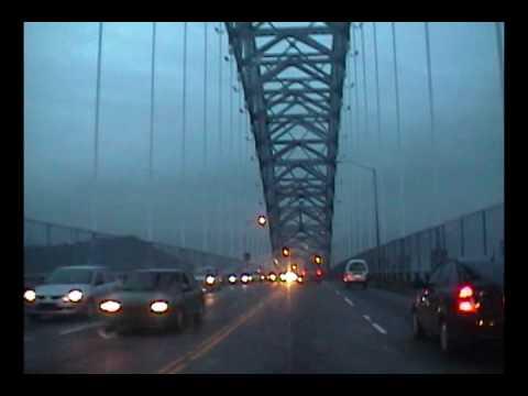 Crossing the Bridge of the Americas in Panama