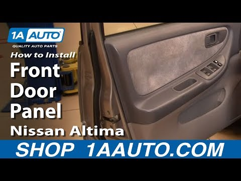 How To Install Replace Remove Front Door Panel Nissan Altima 98-01 1AAuto.com
